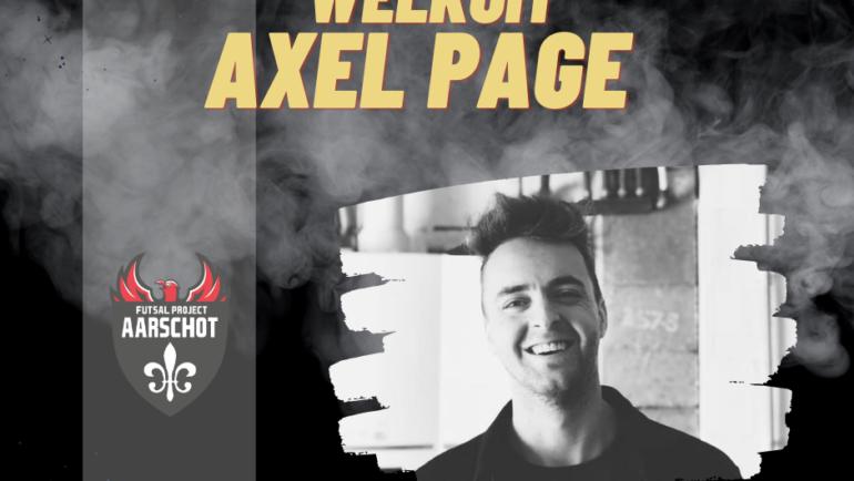 Welkom Axel!
