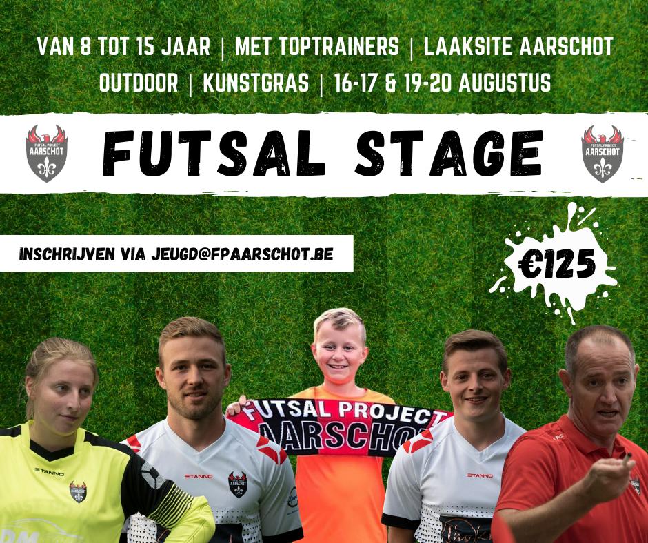 Eerste Futsal stage komt er aan!